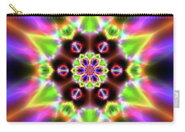 Carry-all Pouch featuring the digital art Crystal Ahau 657545456 by Robert Thalmeier