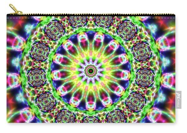 Carry-all Pouch featuring the digital art Crystal Ahau 6575489087 by Robert Thalmeier