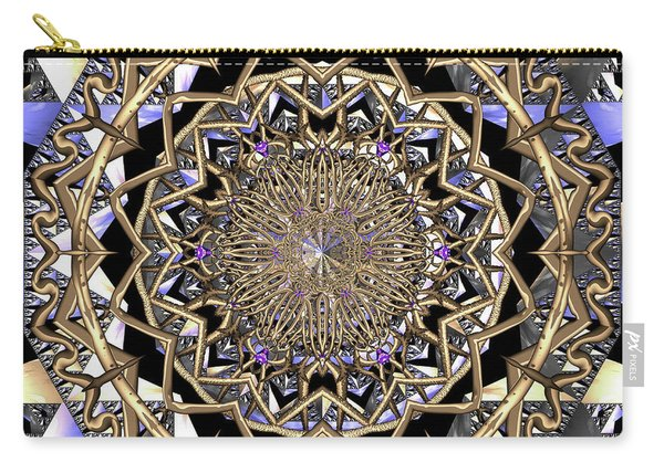 Carry-all Pouch featuring the digital art Crystal Ahau  by Robert Thalmeier