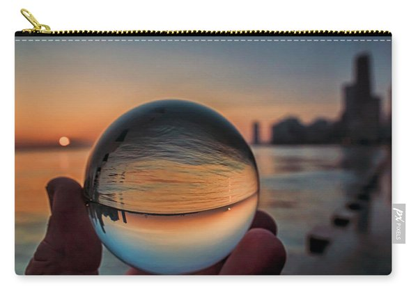 Crystal Ball On Chicago's Lakefront At Sunrise Carry-all Pouch