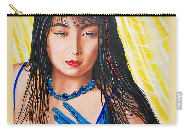 Crystal Blue China Girl            From   The Attitude Girls  Carry-all Pouch