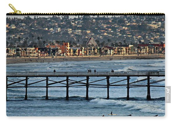 Crystal Pier - Mission Beach - Big Dipper Carry-all Pouch
