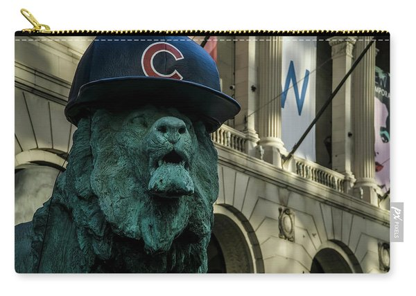 Cub Hat On Art Institute Lion Telephoto Carry-all Pouch