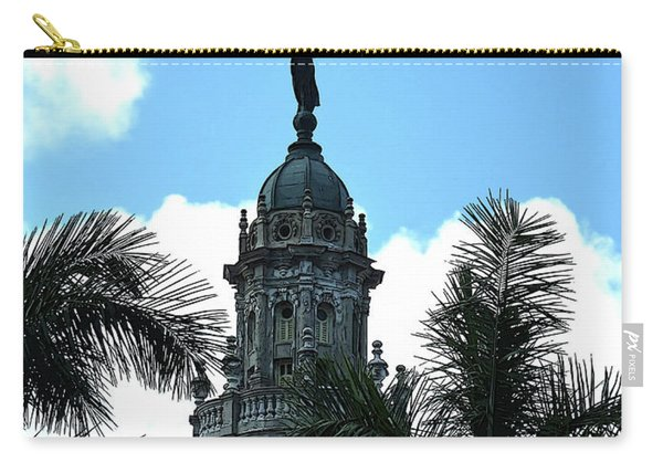 Cuba Rooftop W Protection Statue Carry-all Pouch
