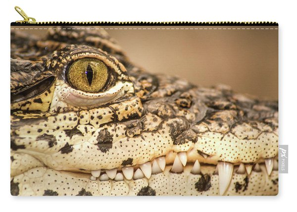 Cuban Croc Smile Carry-all Pouch
