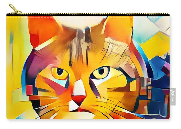 Cubic Color Cat Carry-all Pouch