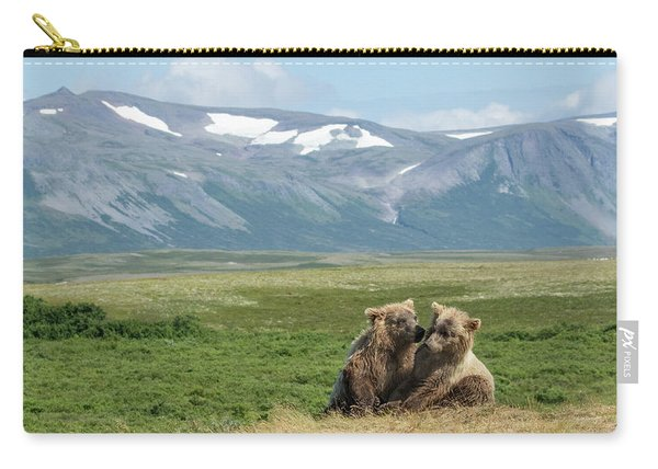 Cubs Playing On The Bluff Carry-all Pouch
