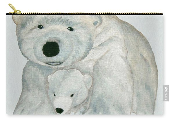 Cuddly Polar Bear Watercolor Carry-all Pouch