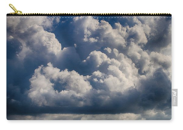 Carry-all Pouch featuring the photograph Cumulus Over The River by William Selander