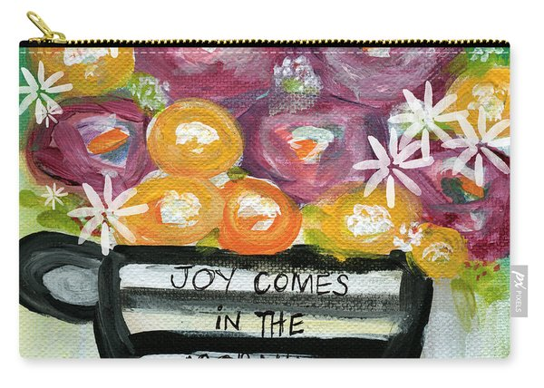 Cup Of Joy 2- Contemporary Floral Painting Carry-all Pouch