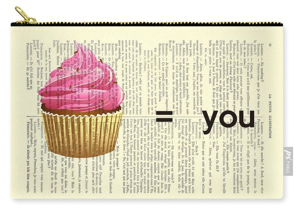 Pink Cupcake Equals You Print On Dictionary Paper Carry-all Pouch