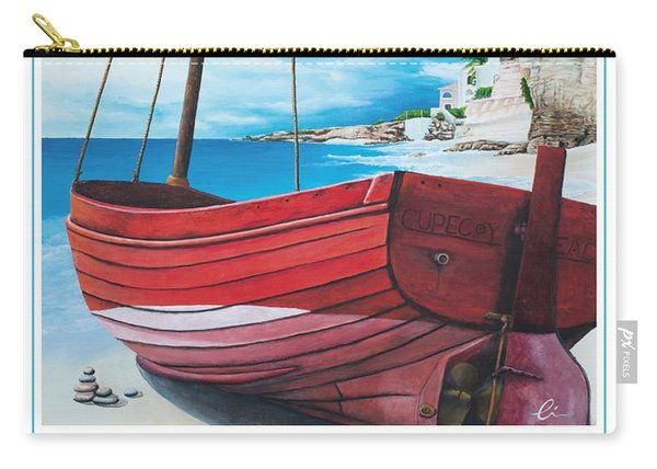 Cupecoy Beach Poster Carry-all Pouch