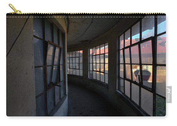 Carry-all Pouch featuring the photograph Curved Hallway II by Tom Singleton