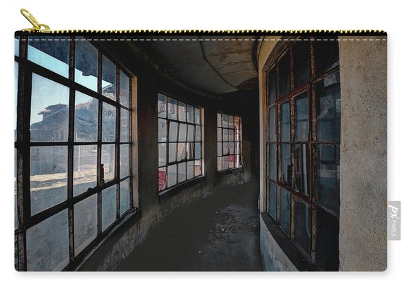 Carry-all Pouch featuring the photograph Curved Hallway by Tom Singleton