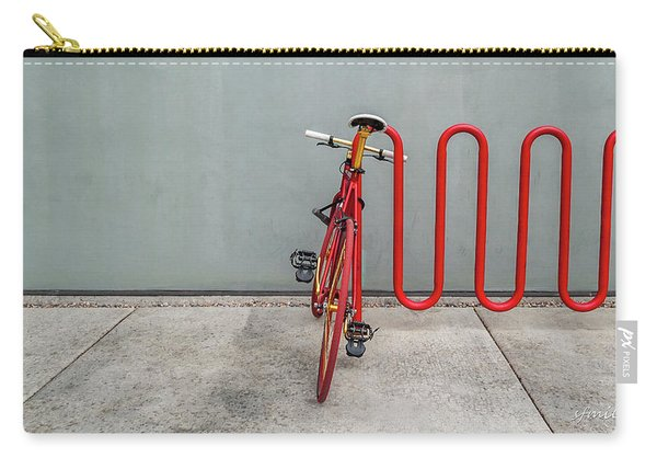 Curved Rack In Red - Urban Parking Stalls Carry-all Pouch