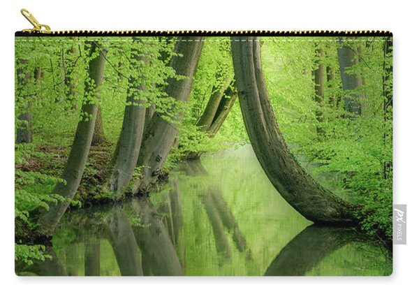 Curved Trees Carry-all Pouch
