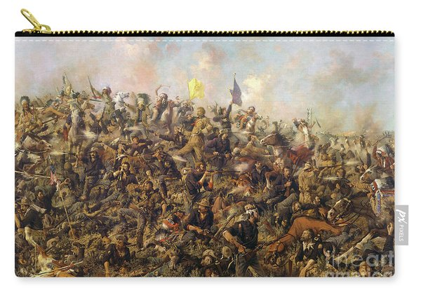 Custer's Last Stand From The Battle Of Little Bighorn Carry-all Pouch
