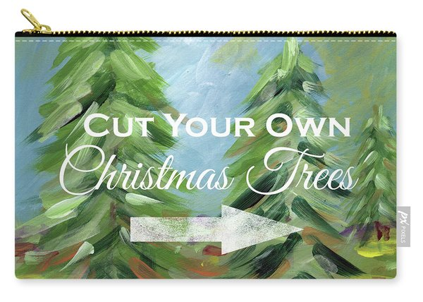 Cut Your Own Tree- Art By Linda Woods Carry-all Pouch