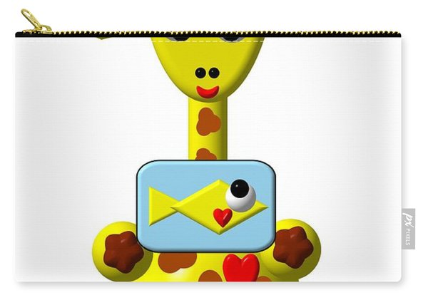 Cute Giraffe With Goldfish Carry-all Pouch