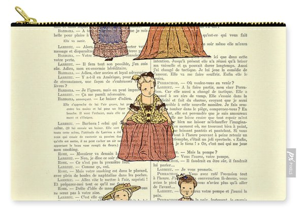 Cute Little Girls Dressed In Victorian Clothes Carry-all Pouch