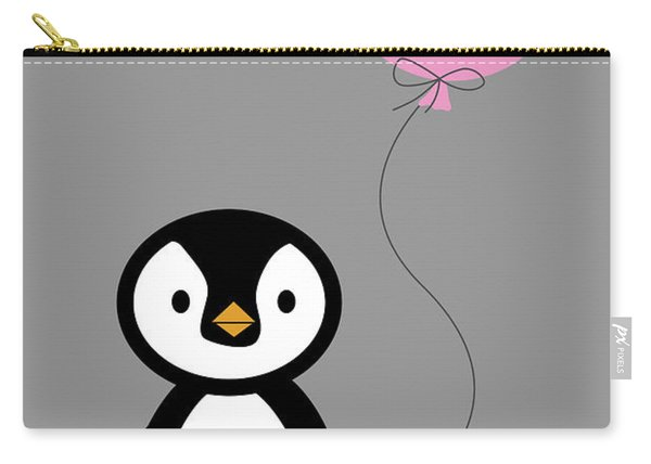 Cute Penguin With Balloon Carry-all Pouch