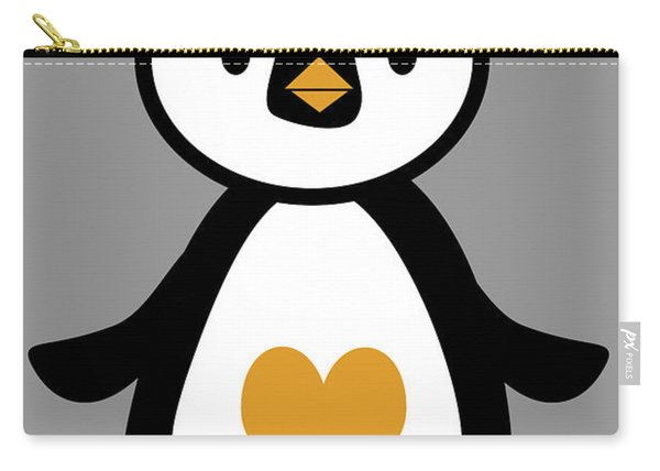 Cute Penguin With Heart Carry-all Pouch