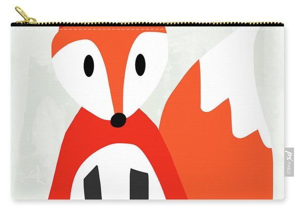 Cute Red And White Fox- Art By Linda Woods Carry-all Pouch