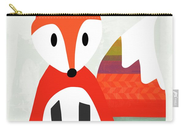 Cute Red Fox 2- Art By Linda Woods Carry-all Pouch