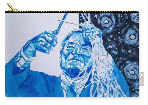 Carry-all Pouch featuring the painting Cutting Down The Net - Dean Smith by Joel Tesch