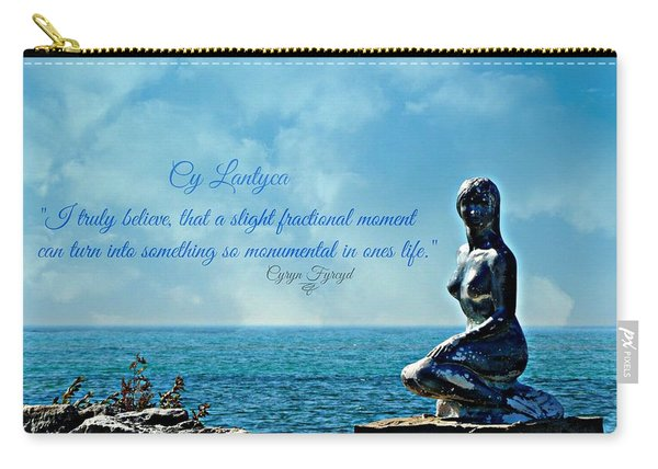 Cy Lantyca Quote Carry-all Pouch