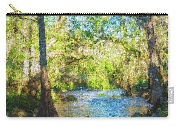 Cypress Trees On The River Carry-all Pouch