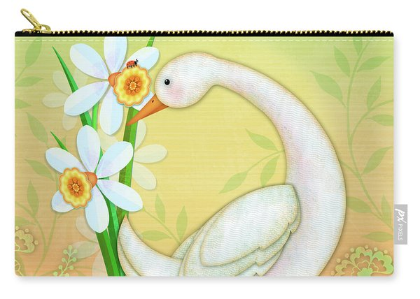 D Is For Duck And Daffodils Carry-all Pouch