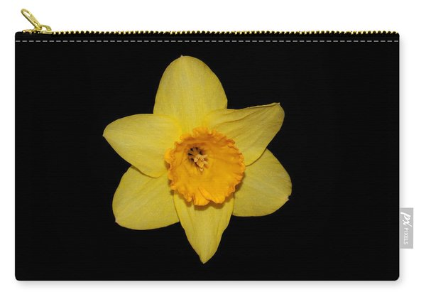 Daffodil In Black Carry-all Pouch