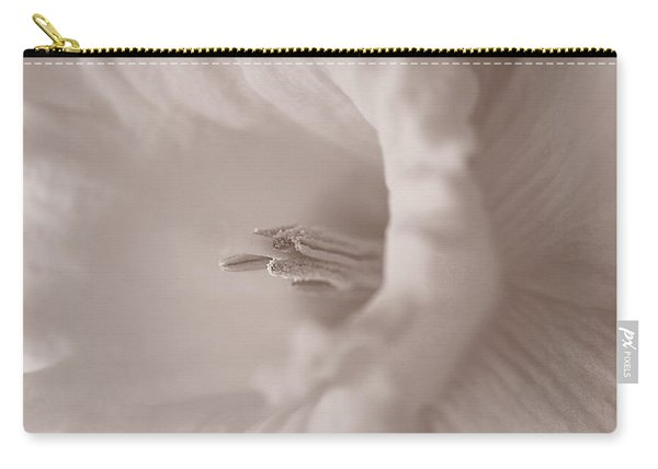 Daffodil In White Carry-all Pouch