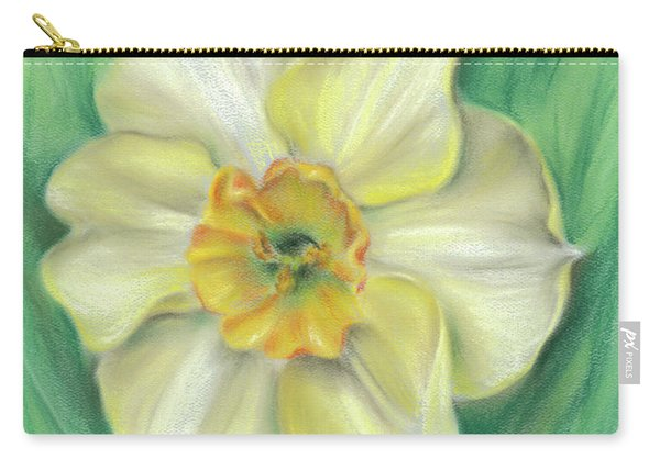 Daffodil Spring Floral Carry-all Pouch