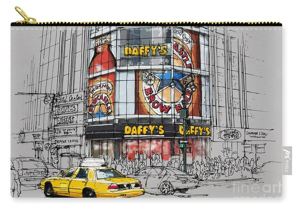 Daffys New York City Yellow Cab Original Sketch Carry-all Pouch