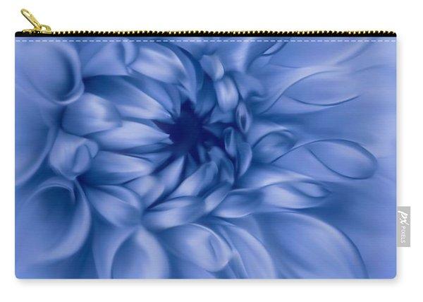 Dahlia Cyanotype Carry-all Pouch