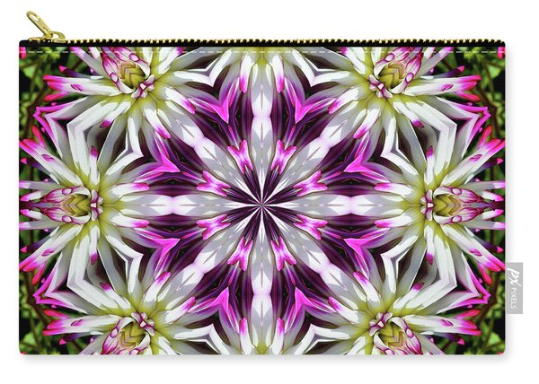 Dahlia Flower Circle Carry-all Pouch