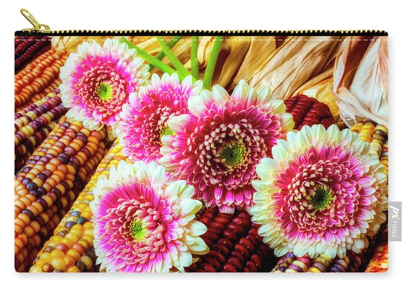 Daises On Indian Corn Carry-all Pouch