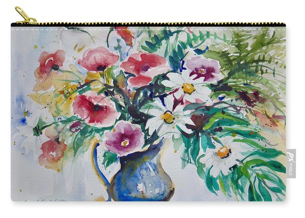 Daisies And Poppies Carry-all Pouch