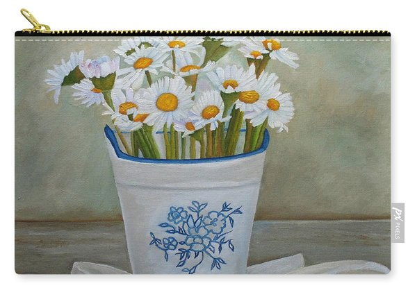 Daisies And Porcelain Carry-all Pouch