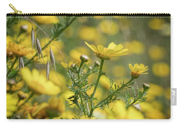 Carry-all Pouch featuring the photograph Daisies In Spring 2 by Michael Hope
