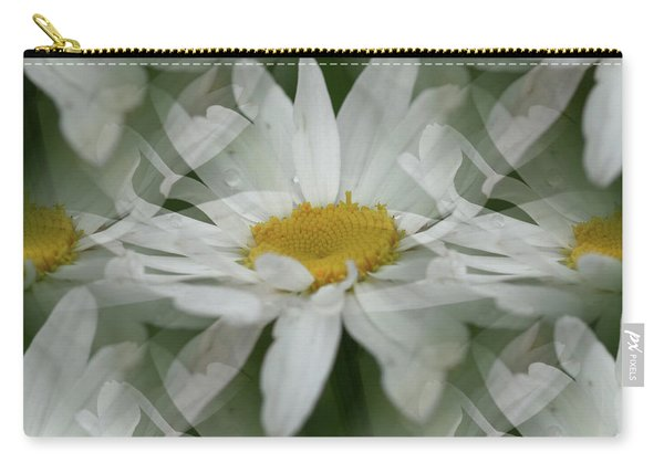 Daisy Dreams In White Carry-all Pouch