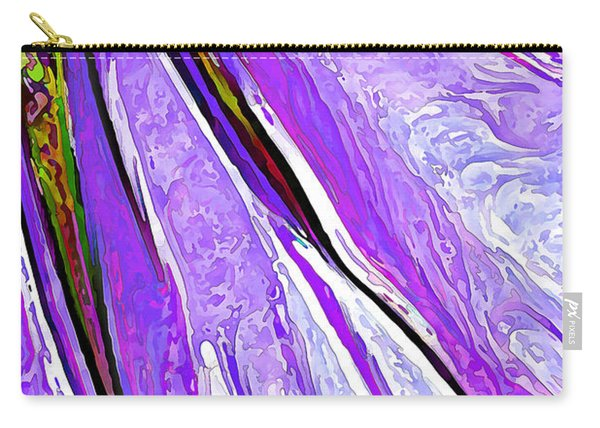 Daisy Petal Abstract In Grape Carry-all Pouch