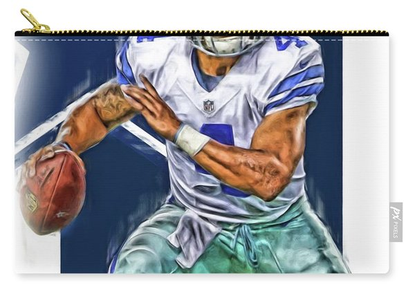 Dak Prescott Dallas Cowboys Oil Art Carry-all Pouch