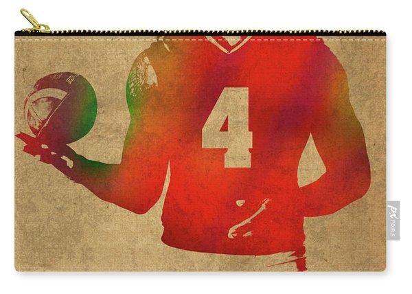 Dak Prescott Nfl Dallas Cowboys Quarterback Watercolor Portrait Carry-all Pouch