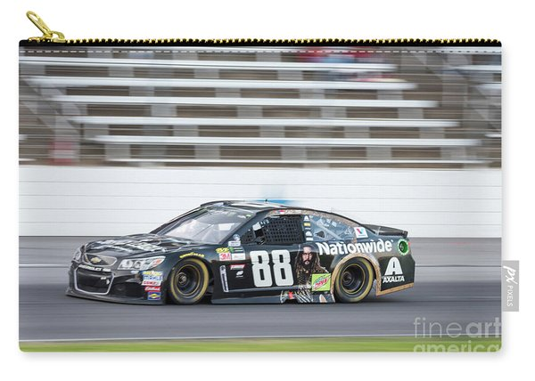 Dale Earnhardt Jr Running Hard At Texas Motor Speedway Carry-all Pouch