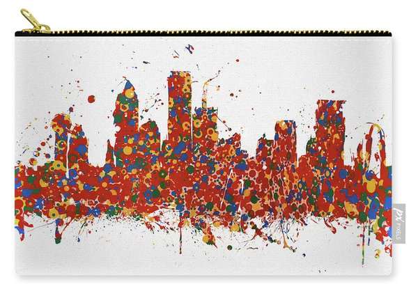 Dallas Colorful Skyline Carry-all Pouch