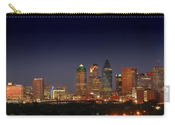 Dallas Skyline At Dusk Big Moon Night  Carry-all Pouch