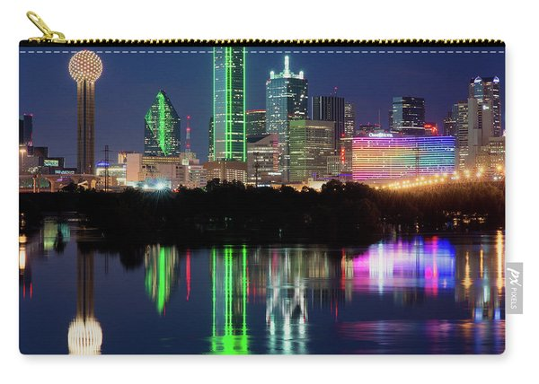 Dallas Skyline Reflection 91317 Carry-all Pouch